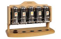 5fach Spender, in Holz- oder Metalloptik erhältlich